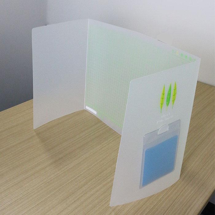 飛沫防止ついたて デスクマット(半透明タイプ)OEM生産
